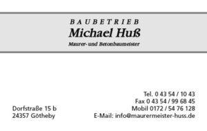 Visitenkarte Baubetrieb_Michael_Huss